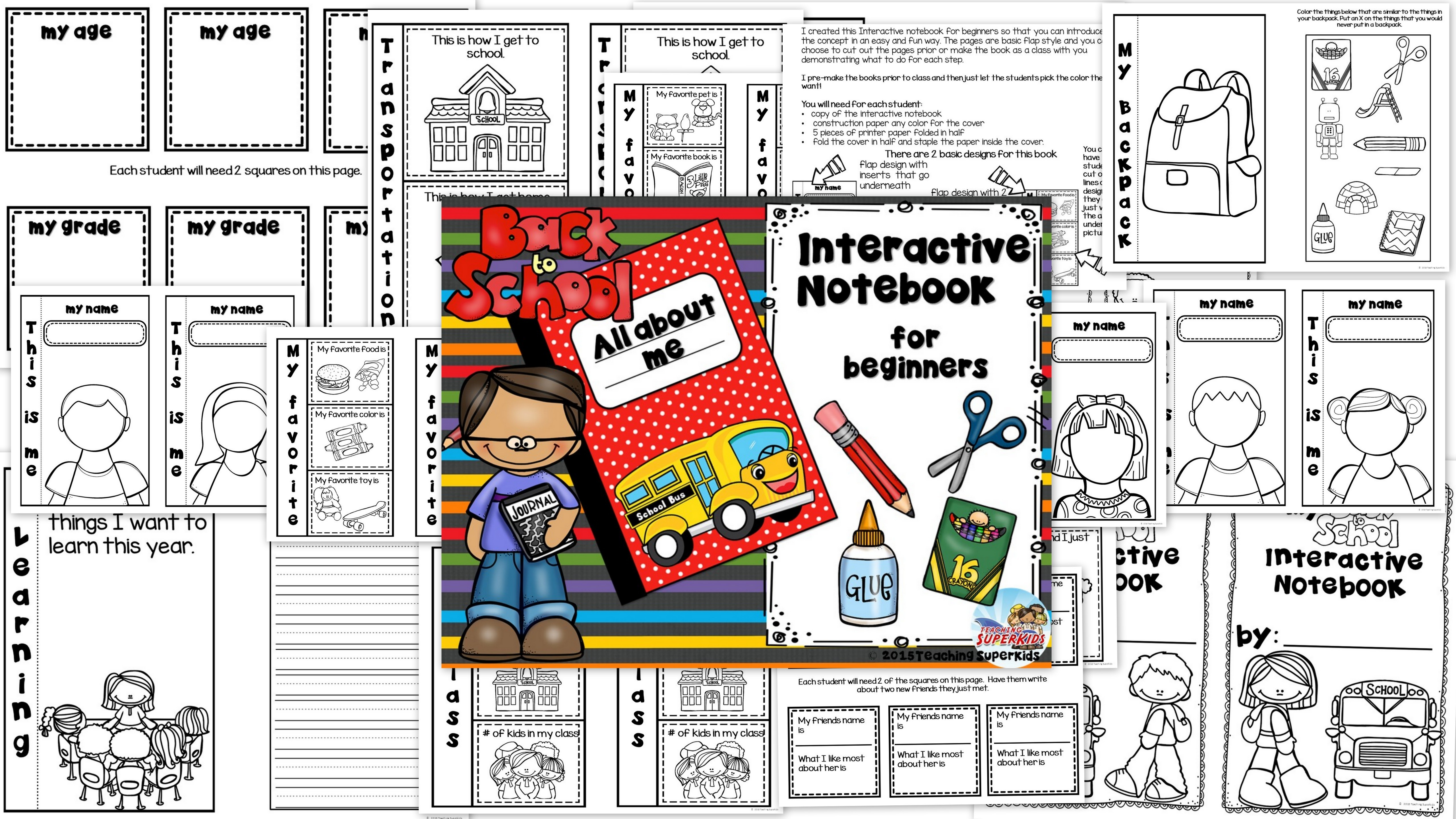 Back to School Interactive Notebook for Beginners