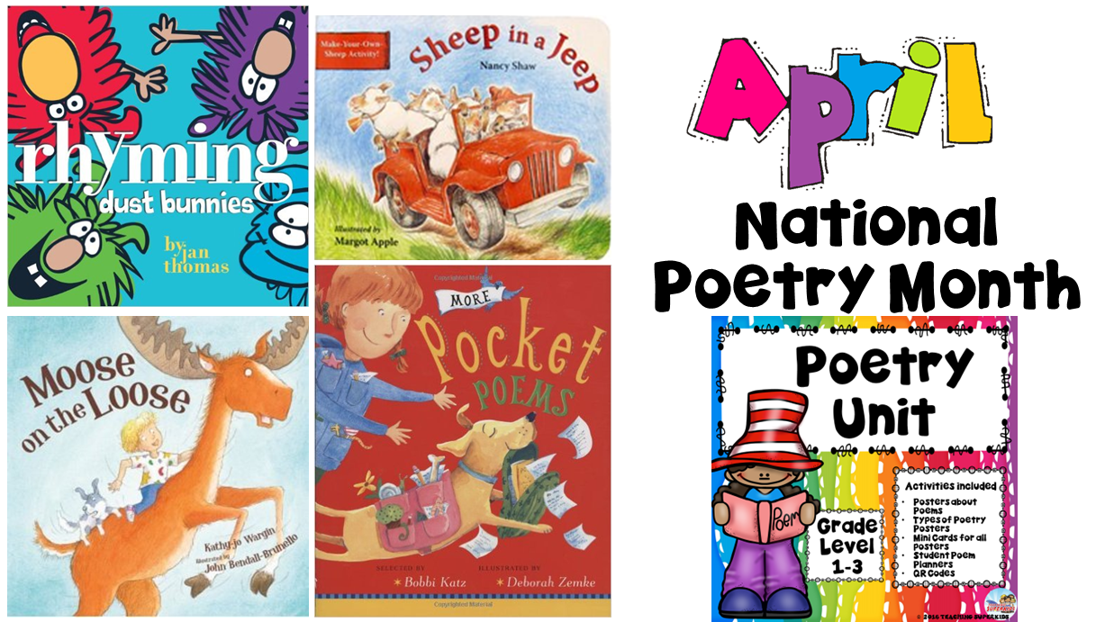 Poetry Month Header Teaching Superkids