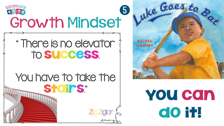 growth mindset success and Luke Goes to Bat