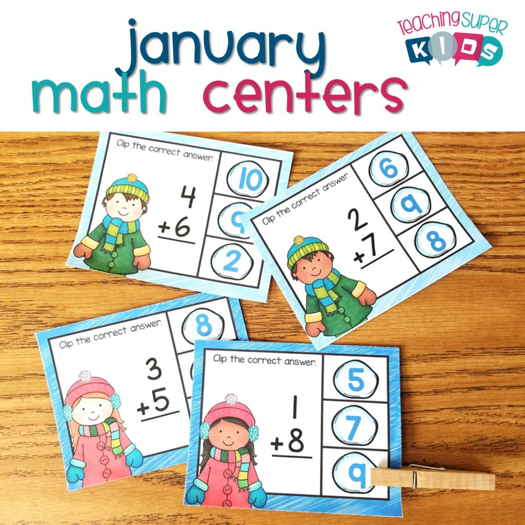 January Math Centers Updated